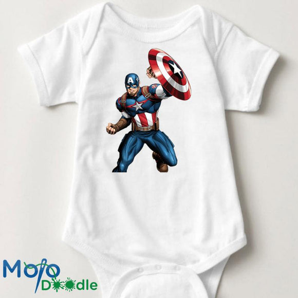 Superhero Caption America Inspired Onesie