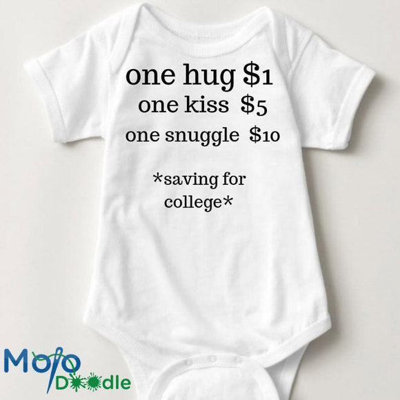 Hug Costs $1 Saving For College Onesie