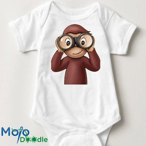 Curious George Inspired Baby Onesie