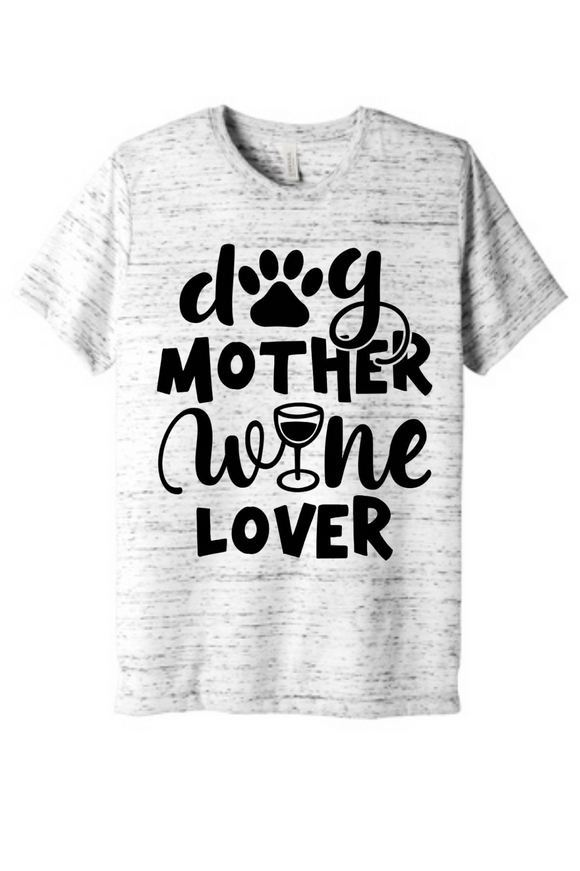 Dog Mother Wine Lover Women's Shirt