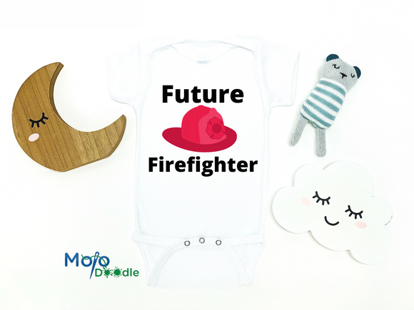 Future Firefighter Baby Onesie