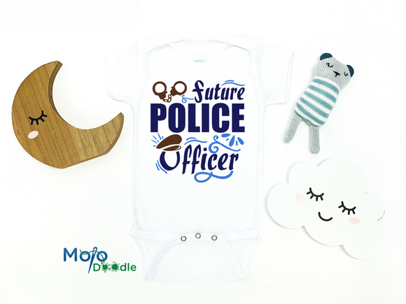 Future Police Officer Baby Onesie