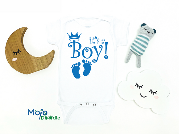 It's A Boy Baby Announcement Onesie