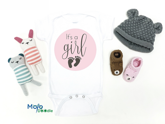 It's A Girl Baby Announcement Onesie