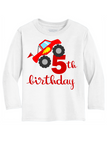 5th Birthday Monster Truck Youth Shirt
