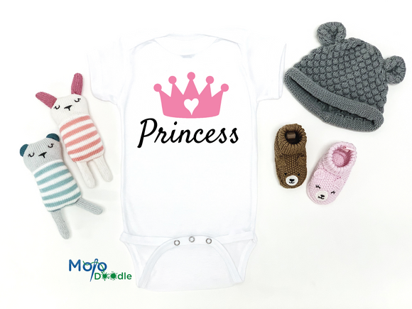 Princess Crown Baby Onesie