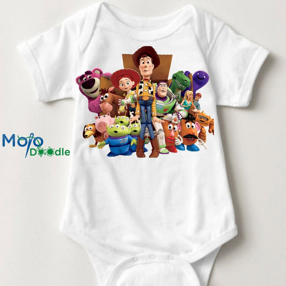 Toy Story inspired Baby Onesie