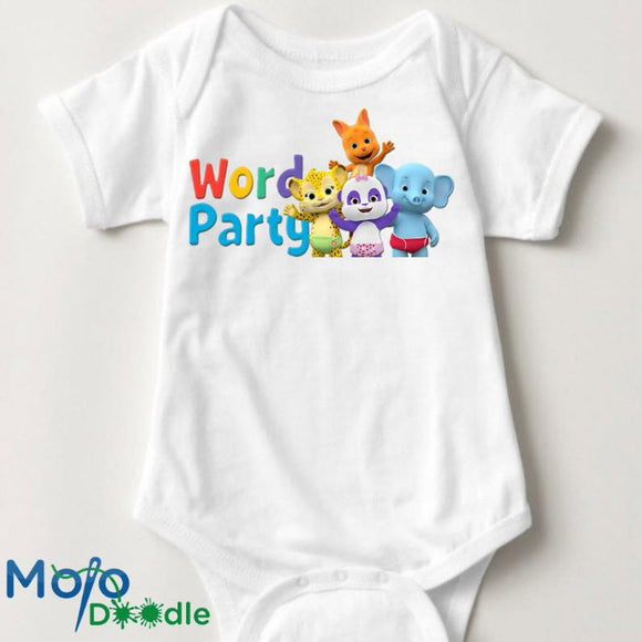 Word Party Baby Onesie