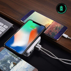 Super Multi-Power Wireless Charger With Global Adopters And Power Bank