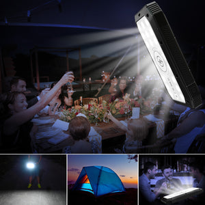 Sun Chaser Mini Solar Powered Wireless Phone Charger 10,000 mAh With LED Flood Light