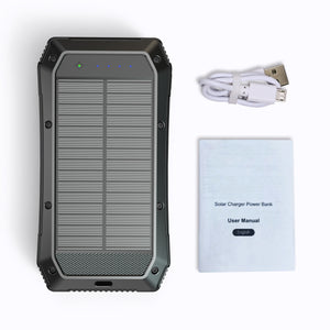 Sun Chaser Solar Powered Wireless Phone Charger 20,000 mAh With LED Flood Light