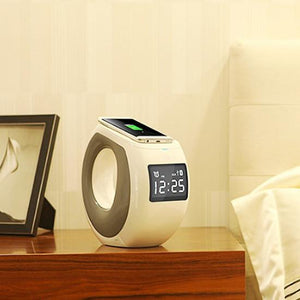Ocean Wave Bluetooth Speaker , Clock and Wireless Phone Charger
