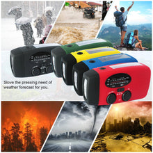 Load image into Gallery viewer, Storm Safe Emergency AM/FM/NOAA Weather Band Radio With Solar Flash Light And Built-in Phone Charger