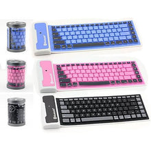 Load image into Gallery viewer, Type out of a BOX with Flexible silicone bluetooth keyboard - VistaShops