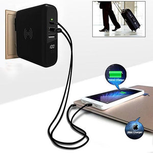 Global Gadget Worldwide Super Travel Wireless Charger With Multi Ports And Portable Charging