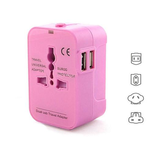 Worldwide Power Adapter and Travel Charger with Dual USB ports that works in 150 countries - VistaShops - 3