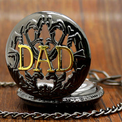 Black Quartz DAD Pocket Watch