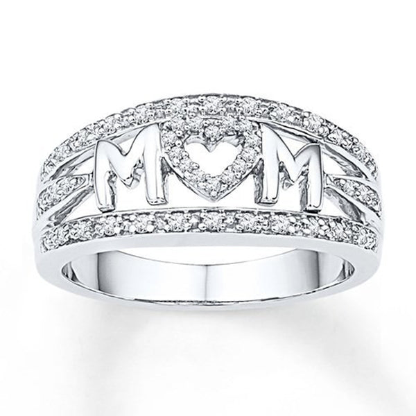 Love Mum Diamond Ring Jewelry