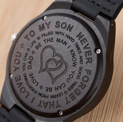 Engraved Wood Watches Son Gift Family Love Gift for Daughter Graduation Present Watches 38 mm 44 mm