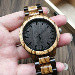 TO MY HUSBAND I LOVE YOU ENGRAVED WOODEN WATCH