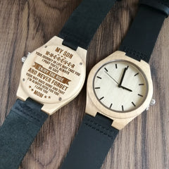 TO MY SON ENGRAVED WOODEN WATCH I'M ALWAYS HERE FOR YOU