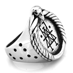 Fanssteel Stainless steel jewelry Gemini  star signs zodiac ring FSR14W43
