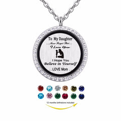 """To My Daughter..."" 30mm Magnetic Floating Locket"