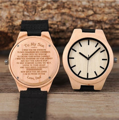 Engraving Men Women Watches Family Special Christmas Gifts for DAD MOM Son Daughter Husband Wife Quartz Customize Anniversary