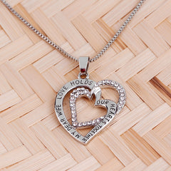 my dear wife love holds our hearts together Necklaces wife gift soulmate Necklaces love wife forever heart to heart lover chains