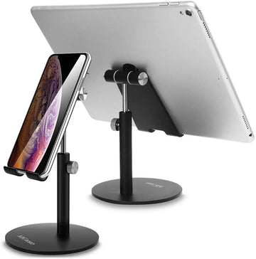 AICase Tablet/Phone Stand, Universal Adjustable Aluminum Desktop Stand