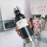 Portable Stainless Steel Thermal Water Bottle - YOUR PLANET MATTERS