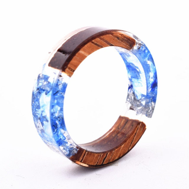 Women's Handmade Colorful Wood-Resin Ring - YOUR PLANET MATTERS