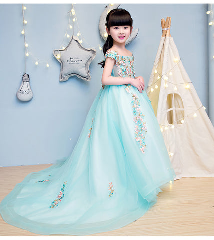 Elegant Girls Wedding Long Dress