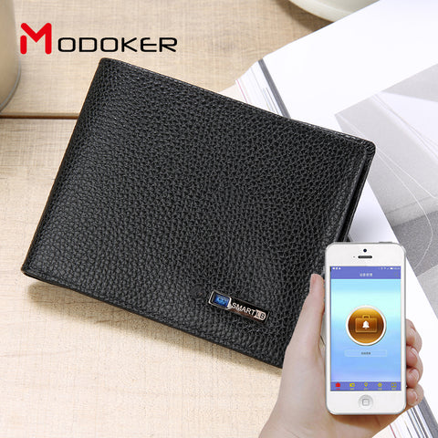 Anti-theft Smart Genuine Leather Men's Wallet