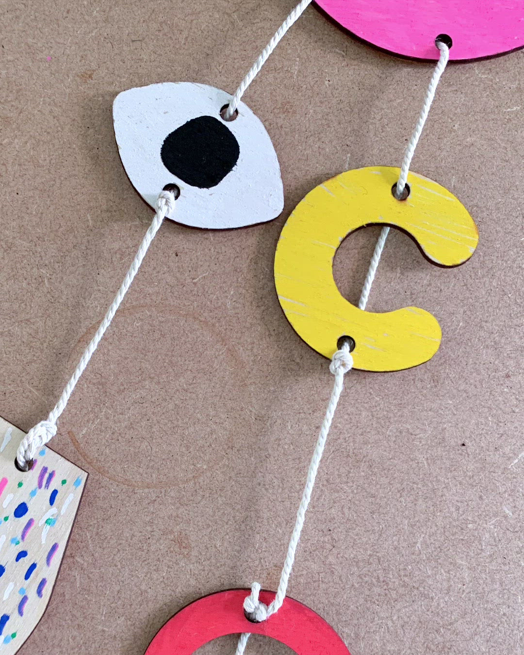 DIY Abstract Mini Wall Hanging