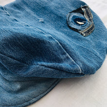 Load image into Gallery viewer, Upcycled Denim Baker Boy Hat
