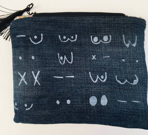 Upcycled Tata Pouch Purse