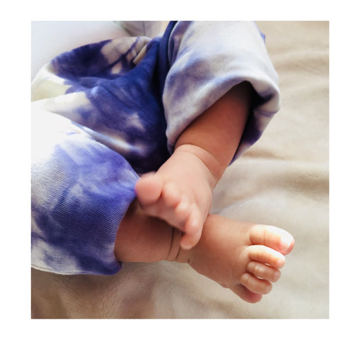 Gender Neutral Kids / Baby / Toddler Shibori Indigo Dyed Harems