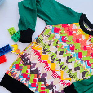 Upcycled Kids Handmade Raglan Top