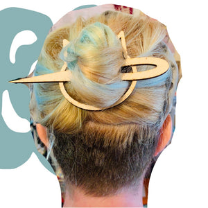 Geometric Wooden Hair Pins
