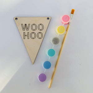 Wooden Painted Banner Kit