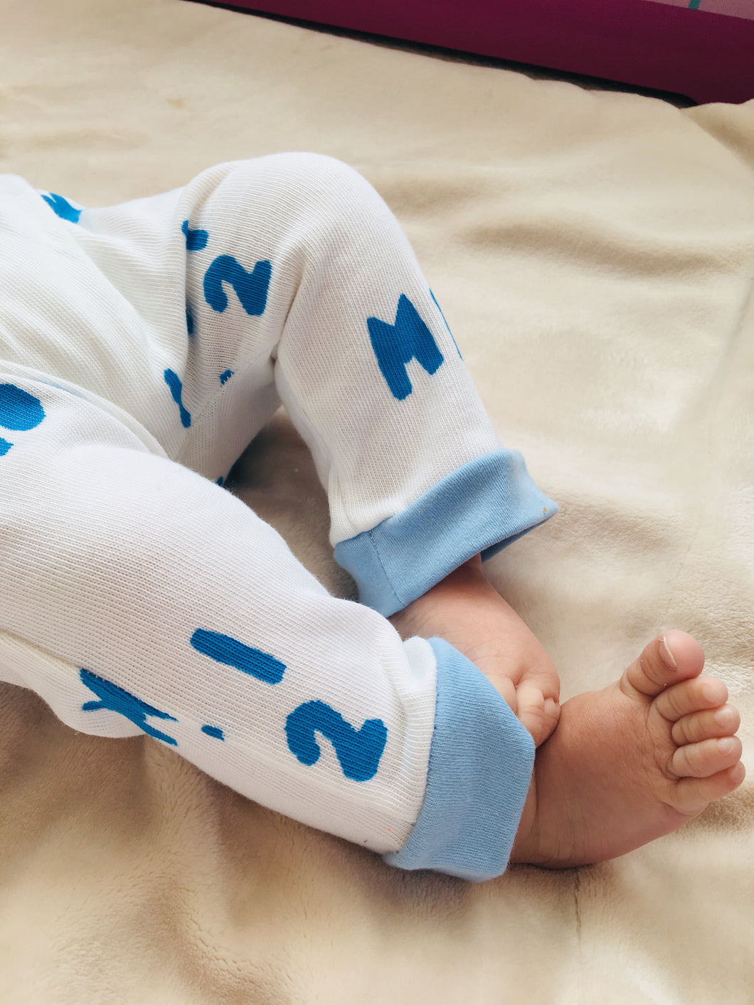 Gender Neutral Kids / Baby / Toddler Hand Printed Jersey harems