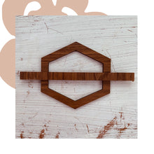 Load image into Gallery viewer, Geometric Wooden Hair Pins