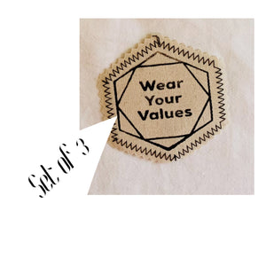WEAR YOUR VALUES patches