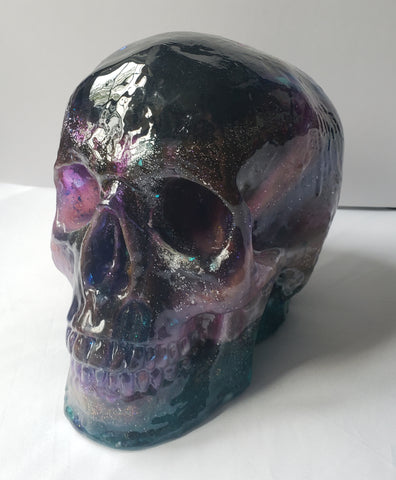 Anatomically Correct Life size Skull in Galaxy