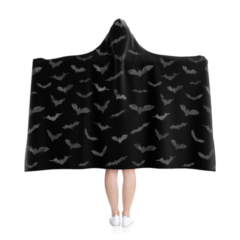 Bat Hooded Blanket