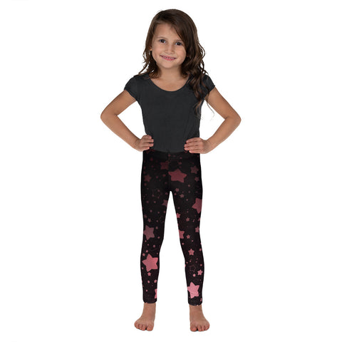 Black and Rose Gold Kid's Leggings