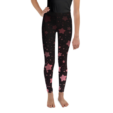 Black and Rose Gold Youth Leggings