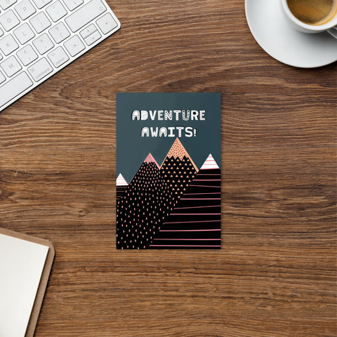 Adventure Awaits Postcard