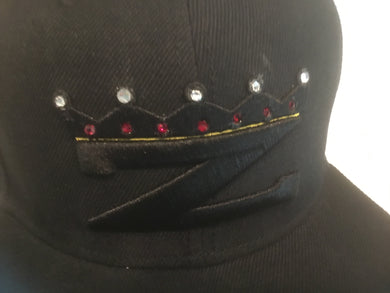 Z King crown hat with Swarovski Crystals